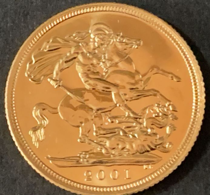 2001 Gold Sovereign